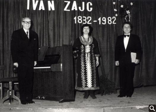 Darko Mondekar, Nevenka Petković-Sobjeslavski i Zvonimir Prelčec na gostovanju u Cerniku 1982.