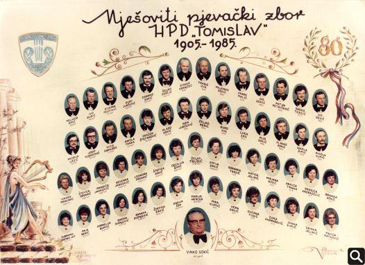 "HPD ""Tomislav"" 1985. godine prigodom 80. obljetnice utemeljenja"