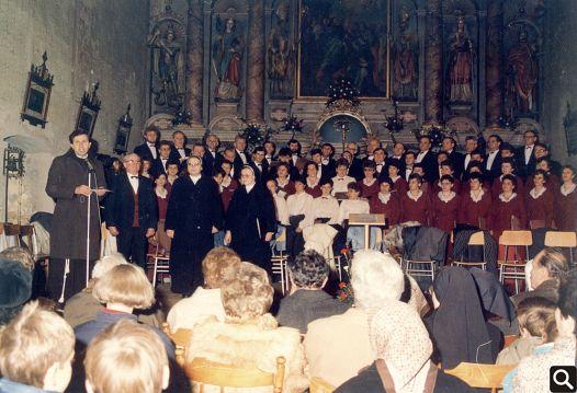 Koncert duhovne glazbe u crkvi sv. Petra apostola u Cerniku 1988. godine uz sudjelovanje s. Imakulate Malinka i s. Cecilije Pleša (Collegium pro musica sacra)