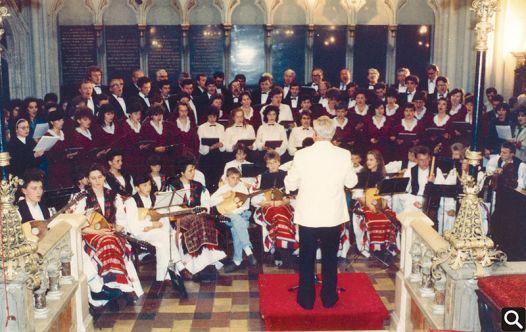"Nastup HPD ""Tomislav"" u zagrebačkoj katedrali 21.5.1989."