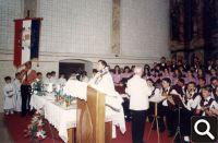 11. lipnja 1995. svečana sveta misa i posveta zastave