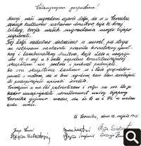 Poziv Cerničanima od 12. veljače 1905. godine, u kojem se ističe želja za osnivanjem kulturnozabavnog društva u Cerniku
